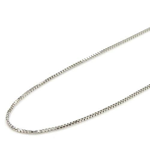 あす楽 18金ホワイトゴールドスライドピン ベネチェーン ネックレス(幅0.6mm・長さ60cm/長さ調整・抜き差し可能)送料無料