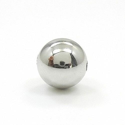 プラチナ900(Pt900) ボール 8mm(貫通穴)スライドピンチェーンに通してお楽しみくださいゆうパケット発送は送料無料です