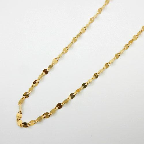 あす楽 45センチ 1.3グラム 純金(K24)ペタルチェーン ネックレス