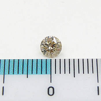 0.35ctシャンパンカラーライトブラウンダイヤモンド0.35カラットルース1石(SI1クラリティ)簡易鑑定カード付き