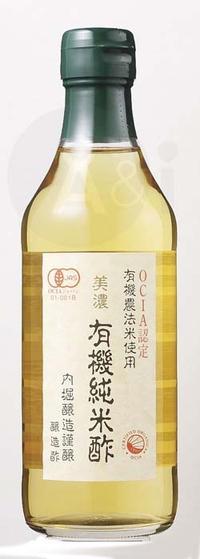 성 내부의 해자 양조 유기 JAS 인정 미노 쥰 쌀식초 360 ml 은근하게 한 자연스러운 식초!OCIA 인정 유기농법미 사용(유기 JAS 인정 취득)
