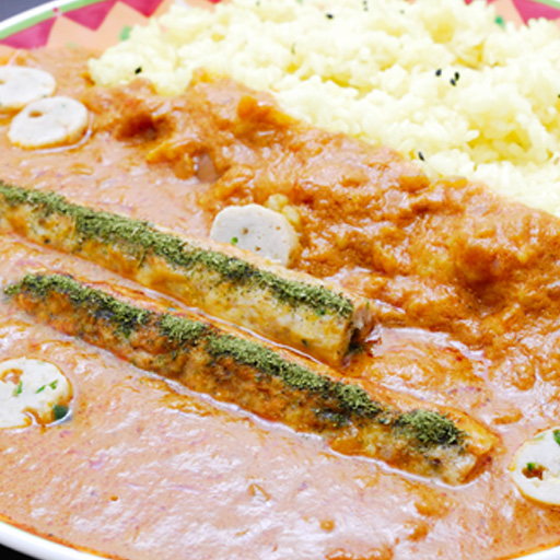 Chicken kabab Curry (250 g) & Artie Sannomiya shop in ウコンライス (200 g) Kobe Indian curry speciality! Indian curry rice!
