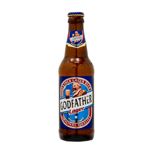 After becoming a 20-year-old is the GOD FATHER LAGER liquor, bottle beer Godfather Lager bottle 330 ml