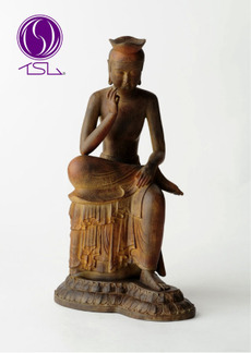 Delicate beauty to smile with your fingertips! Real statues and Interior statue / figure b S n Maitreya bodhisattva (believed)