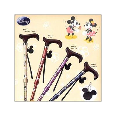 캐릭터 시리즈 경량 알루미늄 스틱 디즈니 미키 마우스 미니 마우스 지팡이 스틱 도보 30cm 컴팩트 신형 조인트 미키 & 미니 접이식 5 단 조절 지팡이