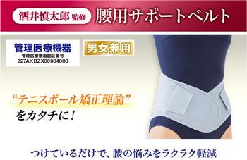 送料無料【酒井慎太郎 シリーズの腰用サポートベルト】