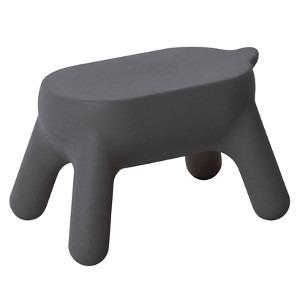 送料無料【プリル ステップスツール マットグレー PurillStep stool】活躍するときは、しっかりと強く、頼もしい踏み台として。休憩しているときは、かわいいスツール、インテリアとしても踏み台 スツール インテリア 家具プリルステップスツール