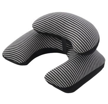 店内限界値引き中&セルフラッピング無料 トラベルクッションボーダークラウド綿素材の柔らかいカバーを付けた2段式クッションです 上の小枕を移動させて お好きな位置に設置可能です ゴーウェル ギフト 新作通販 ボーダークラウド 敬老の日 トラベルクッション