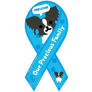購入することで犬の愛護活動に貢献できるマグネットです IDEAL MEDIA JAPAN リボン マグネット 市場 パピヨン 格安激安 犬 グッズ ペット 国産 OPF-PAPILLON Lサイズ 愛護活動貢献
