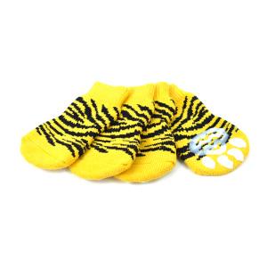 ○【箱から出してOKならメール便・ネコポス2個OK】 アライブ ペットソックス4足セット タイガー Mサイズ (ペット/犬/ドッグウェア/靴下)