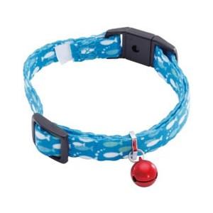自動で外れるバックル 反射鈴のついた安心仕様の猫用首輪です 〇 メール便5個 SALE開催中 ネコポス6個OK ペティオ カラー エニーキャット Anycat ブルー 超美品再入荷品質至上 おさかな