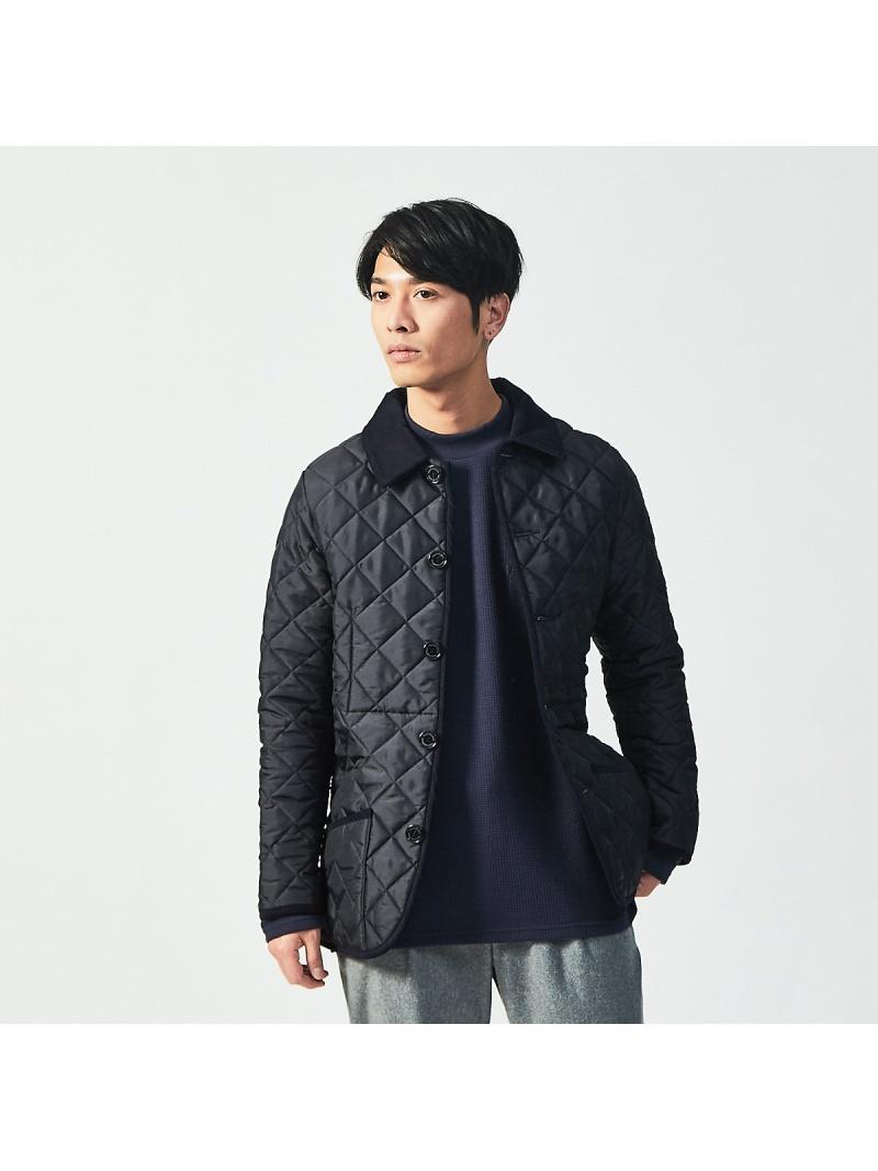 ABAHOUSE メンズ コート ジャケット アバハウス LASTWORD Traditional Weatherwear ブルゾン 送料無料 《週末限定タイムセール》 全国どこでも送料無料 WAVERLY キルティングジ ネイビー Rakuten Fashion