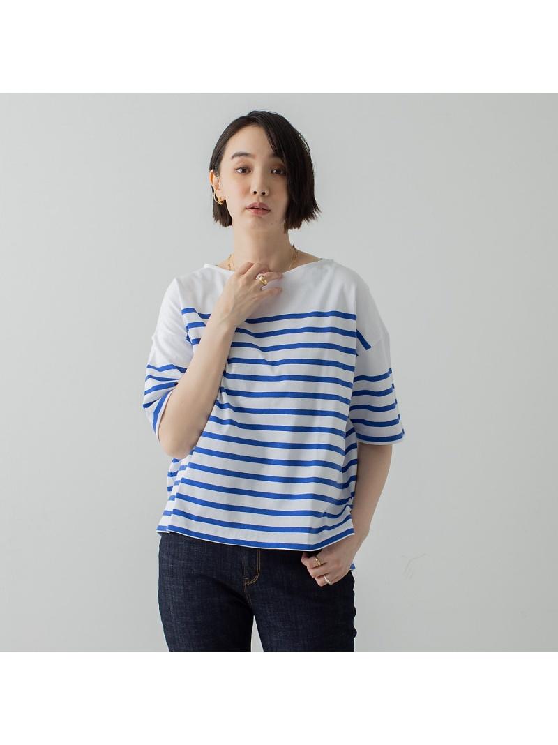 collex レディース カットソー コレックス パネルバスクボーダーTシャツ Tシャツ Rakuten 送料無料 本日の目玉 価格交渉OK送料無料 ベージュ ブラック Fashion ブルー