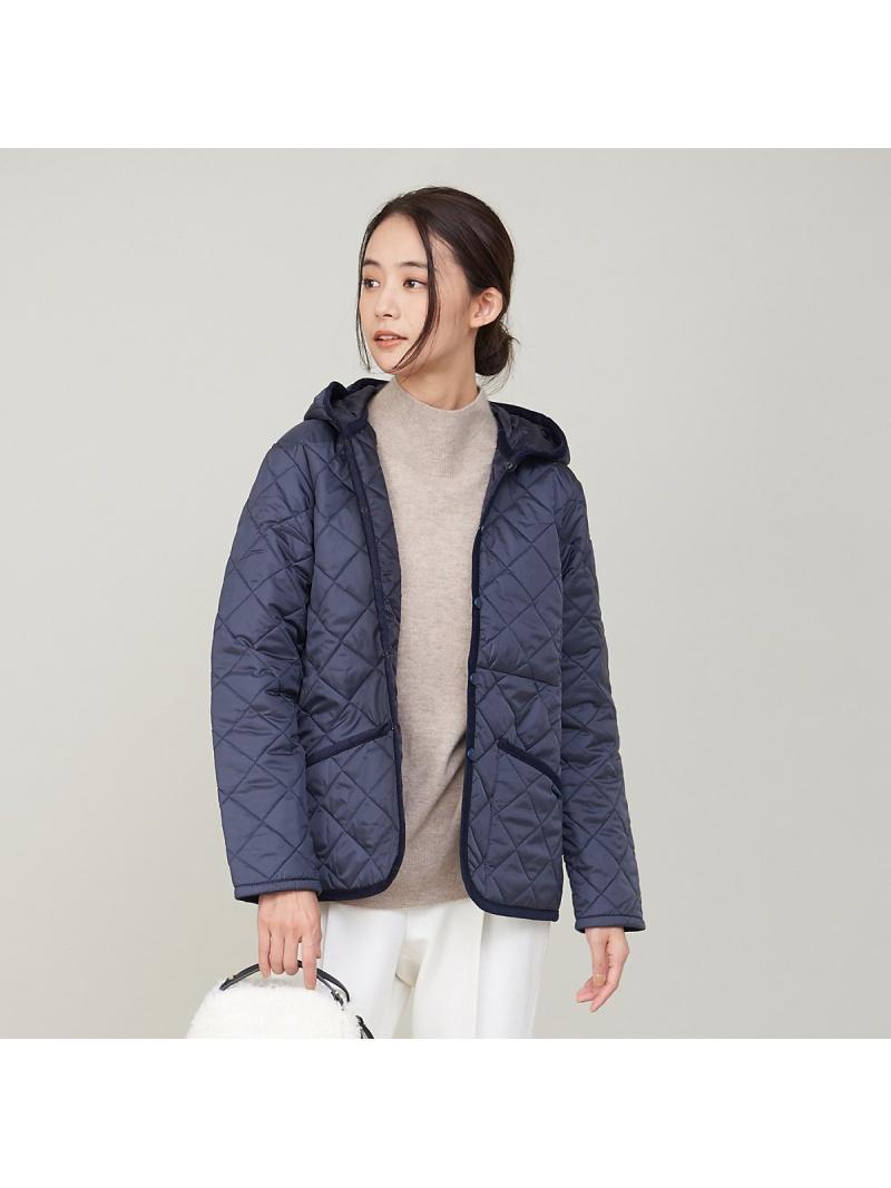 再販ご予約限定送料無料 大幅値下げランキング atscelta_20aw qualite レディース コート ジャケット カリテ Rakuten Fashion 限定 フードキルティングブルゾン ブラック ベージュ 送料無料 ブルゾン LAVENHAM ネイビー CRAYDON