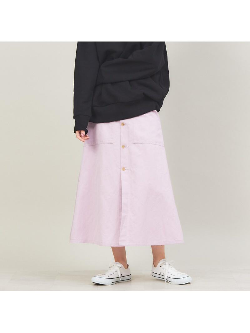 090936Neuf 36 Quatre-Neuf レディース スカート 日本全国 送料無料 カトルナフ SALE 50%OFF コットンラミーボタンフロントスカート ブラック Rakuten ロングスカート カーキ Fashion パープル 直送商品 RBA_E