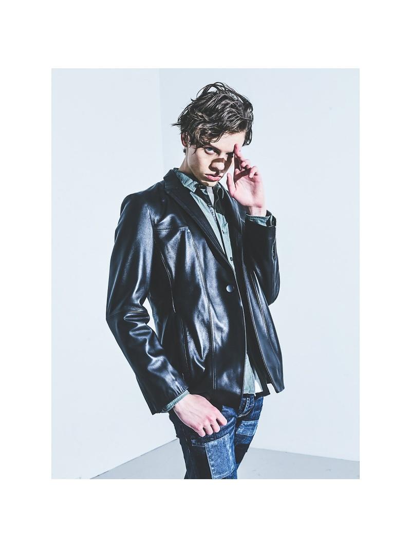 <title>5351POUR LES HOMMES メンズ コート ジャケット ゴーサンゴーイチプールオム ピークドラペル レザー ライダースジャケット レザージャケット ブラック 至高 送料無料 Rakuten Fashion</title>