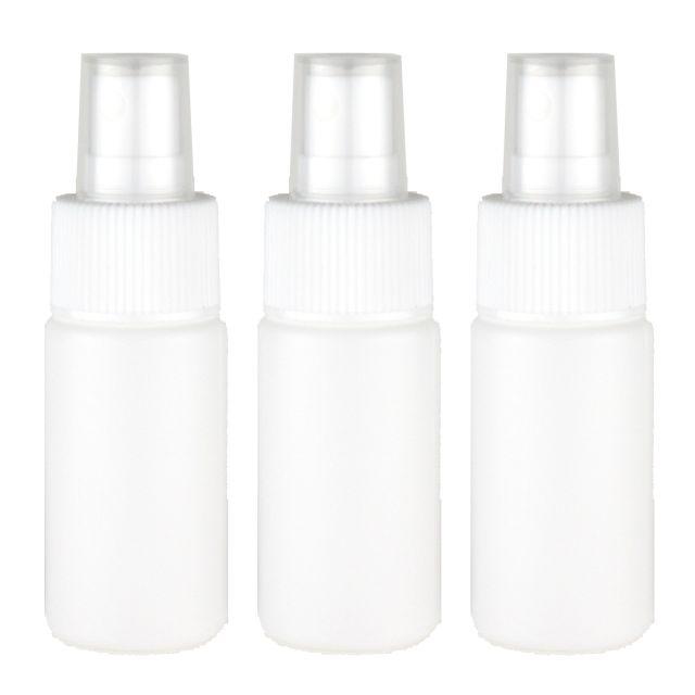 日本製PEボトルで無水 ご注文で当日配送 大幅にプライスダウン 100% エタノール対応の詰替容器 アトマイザーです スプレーボトル 遮光性 30mL 化粧品 空容器 消臭剤 虫よけの小分けスプレー容器 消毒 3本セット