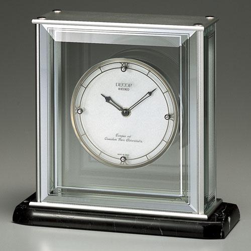 セイコー デコール SEIKO DECOR 【代引決済不可】 高級置時計 クオーツ プラチナの輝きに品格が漂うスタイル AZ749S