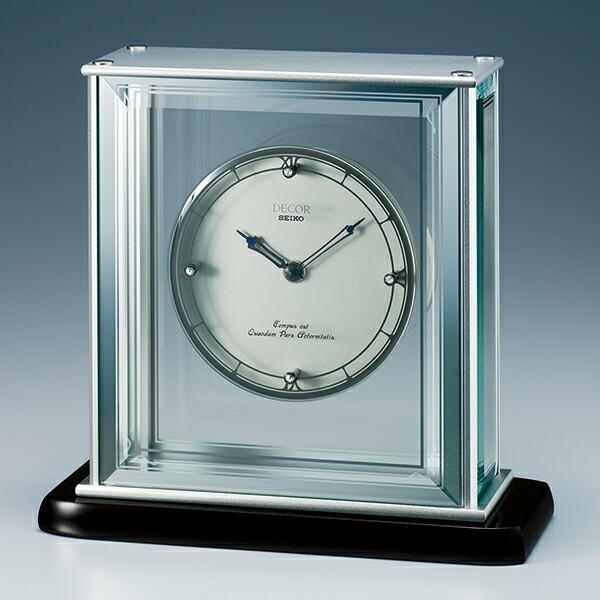 セイコー クロック 置時計 セイコー デコール SEIKO DECOR 【代引決済不可】 高級置時計 クオーツ シャープな造形の金属とカットガラスの中に浮かぶプラチナの輝きに品格が漂うスタイル AZ755S