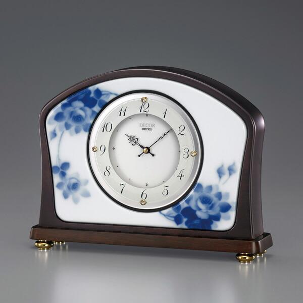 セイコー クロック 置時計 セイコー デコール SEIKO DECOR 【代引決済不可】 高級置時計 機械式 たおやかに「時」に寄り添い、いつまでも咲き誇る花「ブルーローズ」 AZ751B
