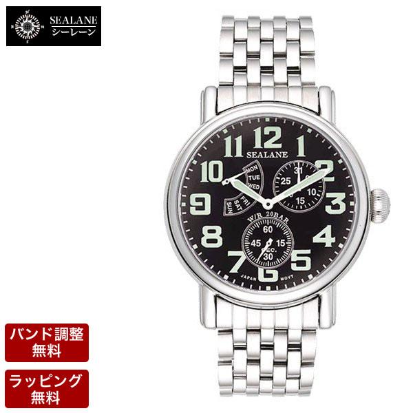 【ポイント10倍!16日2時まで】 シーレーン 腕時計 SEALANE メンズ 腕時計 SE14-MBK