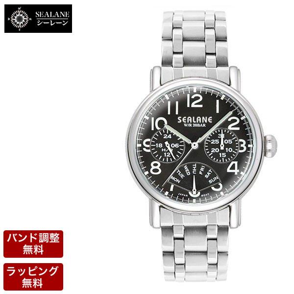 シーレーン 腕時計 SEALANE クオーツ メンズ 腕時計 SE45-MBK