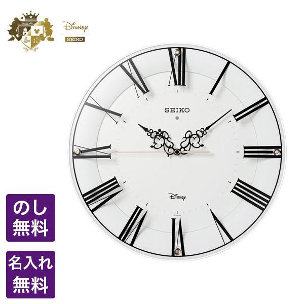 ディズニー 掛時計 SEIKO CLOCK セイコー クロック Disney ディズニー 電波掛時計 およそ一時間に一度のロマンチックな出会い 大切な時間をミッキー&ミニーが正確に刻みます ミッキー&ミニー FS506W