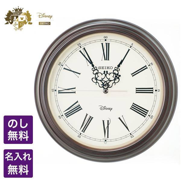 ディズニー 掛時計 SEIKO CLOCK セイコー クロック Disney ディズニー 電波掛時計 時代を超えるクラシックデザインとミッキーとミニーが刻むロマンティックな時間 ミッキー&ミニー FS507B