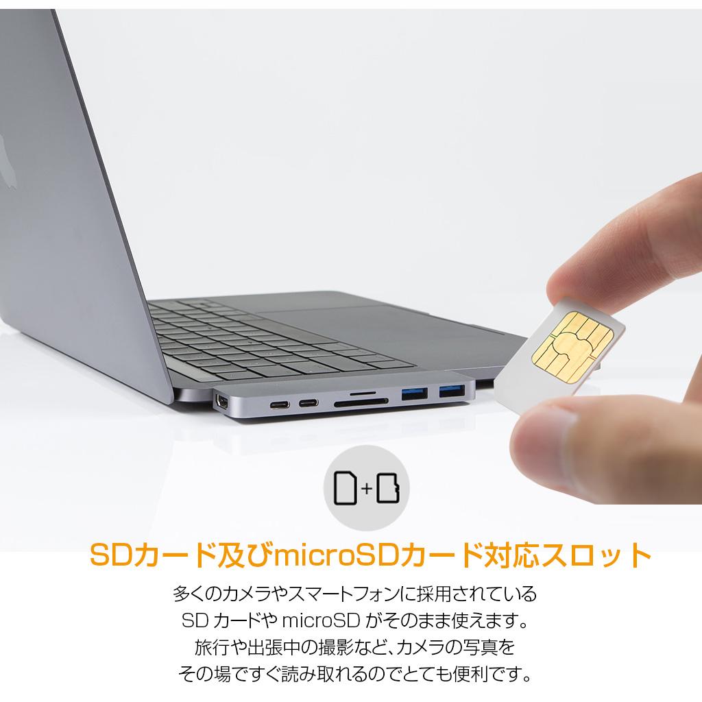 【楽天市場】USB Type C hub mac ハブ HyperDrive 7in2 DUO USB-C Hub for MacBook ...
