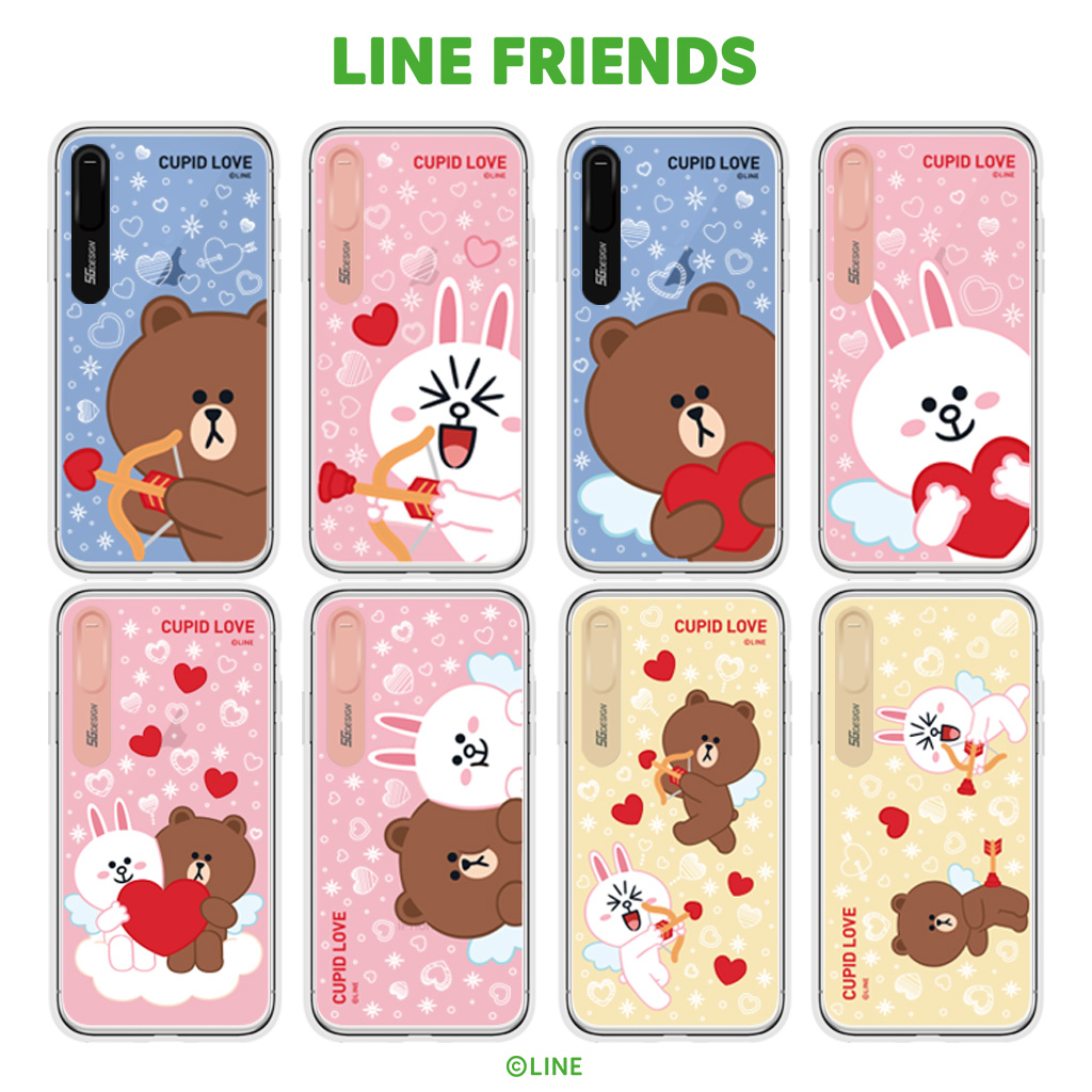 wholesale dealer 88f13 4b858 The eyephone cover illuminations that iPhone XS / X case iPhone XS Max case  iPhone XR case LINE FRIENDS LIGHT UP CASE CUPID LOVE (line friends light ...