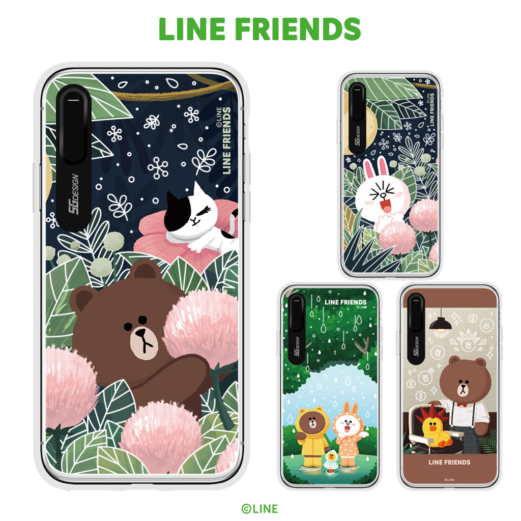 outlet store 52d65 1f6e6 The eyephone cover illuminations that iPhone XS / X case iPhone XS Max case  iPhone XR case LINE FRIENDS LIGHT UP CASE theme (line friends light up ...