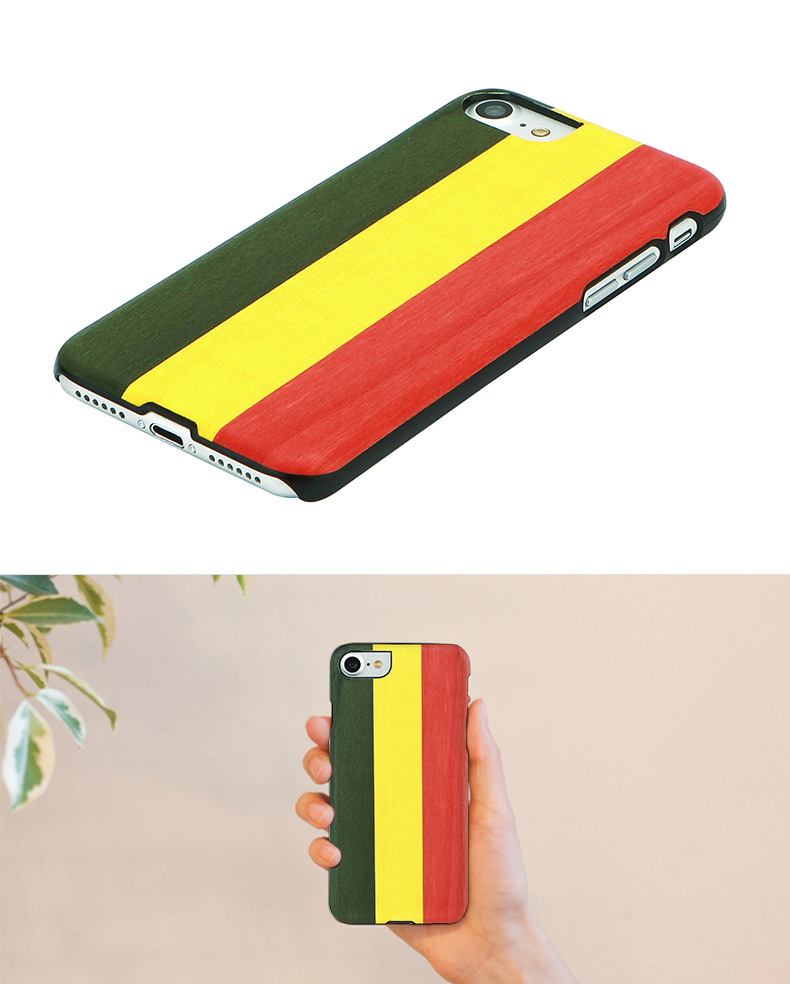 wooden iPhone7 case natural wood Man Wood Reggae (reggae man and wood) iPhone cover