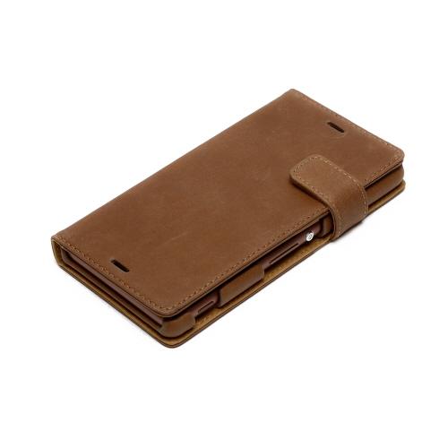 DoCoMo au softbankZENUS Vintage Diary ( vintage diary ) Vintage Brown  leather 6ab8a4c0e12f4