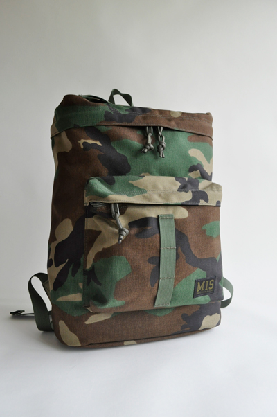 ■MIS(エムアイエス)■BACKPACK1005-WOODLAND CAMO■MADE IN CALIFORNIA■送料無料