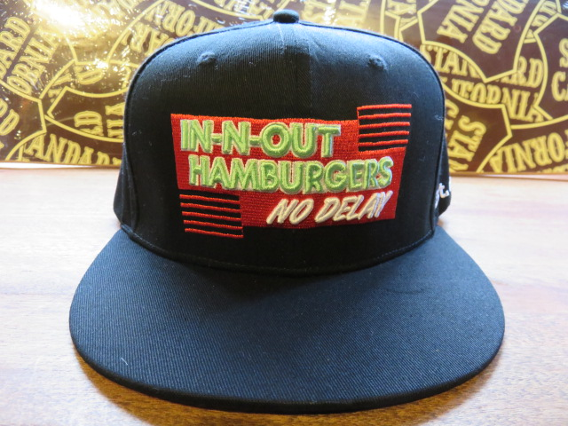 □IN-N-OUT BURGER (in and out burger) □ snapback cap □ black □ USA buying  item 67b80603bd8b