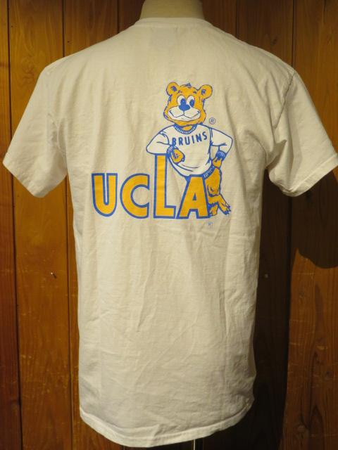 ■University of California Los Angeles (UCLA)×トニータイズサン(Tony tazsun) プリントTシャツ ブルーインズ■ホワイト■(メンズ)M/Lサイズ