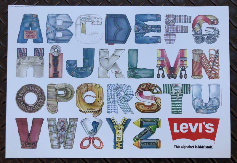 70'S ビンテージ リーバイス Levis poster ついに入荷 ポスター 販促用 正規認証品!新規格 levis