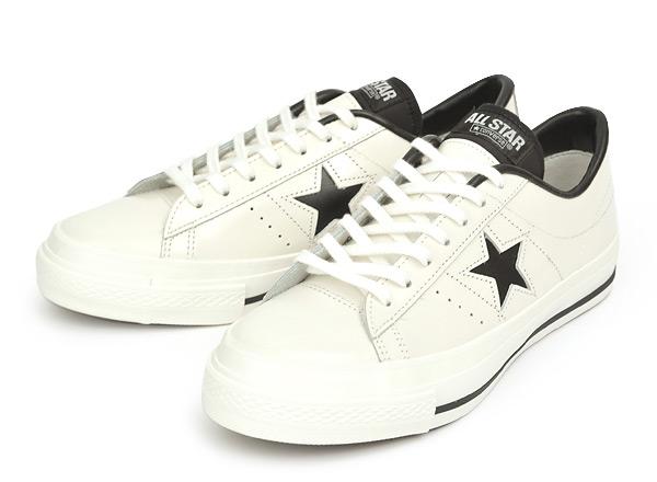 ≪日本製≫ 【CONVERSE】 コンバース ONE STAR J ワンスター J WHITE/BLACK
