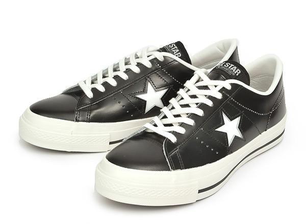 [日本製] 【converse】 コンバース ONE STAR J ワンスター J BLACK/WHITE