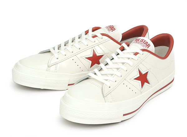 ローカットスニーカー 送料無料 ≪日本製≫ 【CONVERSE】 コンバース ONE STAR J ワンスター J WHITE/RED