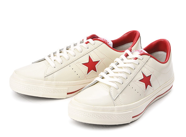 WHITE/ ONE STAR OX 【converse】 オックス コンバース ABC-MART限定 (A) RED ワンスター