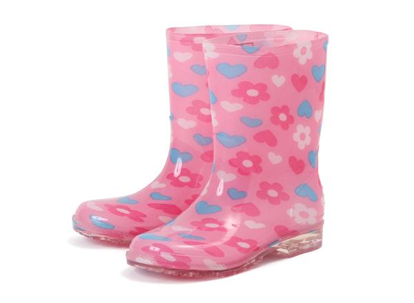 小孩霍金斯高筒靴雷恩长筒靴HK92009 RAIN BOOTS(15-21)FLOWER
