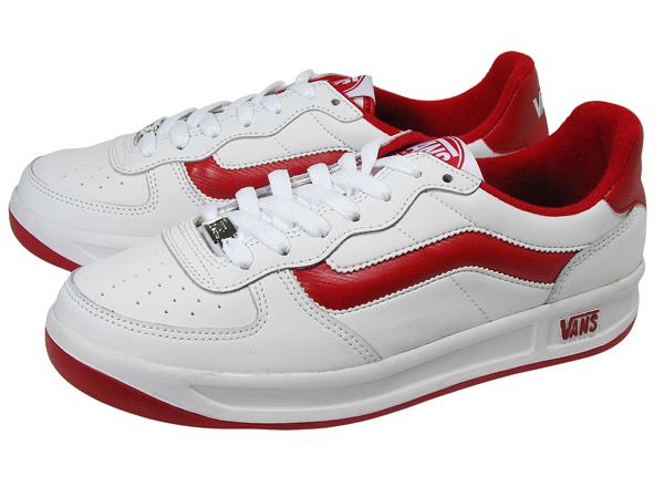 Vans sneaker men's low-cut sneakers V4100 WHT/RED (EL2)
