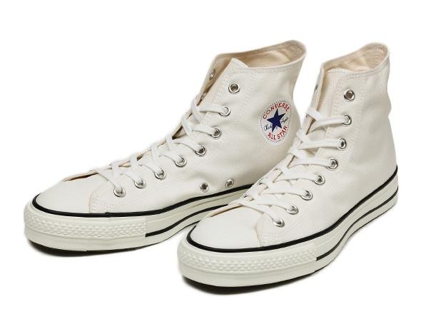 [日本製] 【converse】 コンバース CANVAS ALL STAR J HI キャンバス オールスター J ハイ F13 WHITE