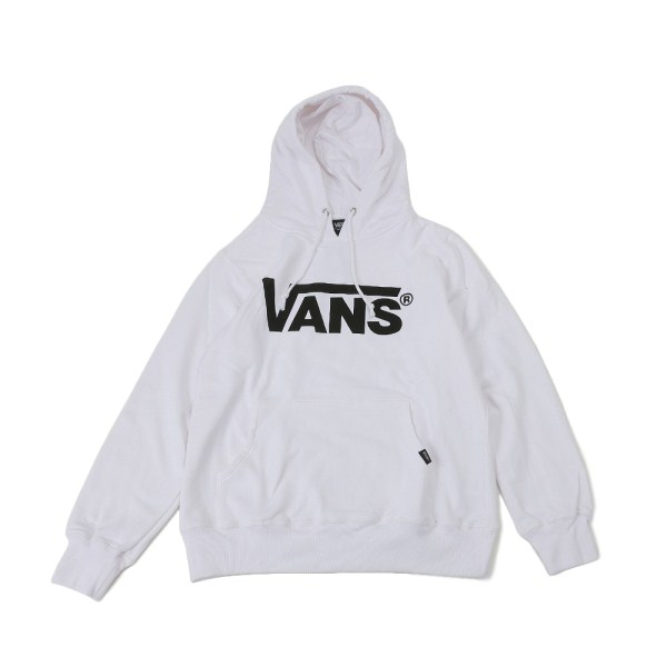 【VANSアパレル】 ヴァンズ パーカー VANS LOGO BASIC HOODY VANS-HD02ABC WHITE