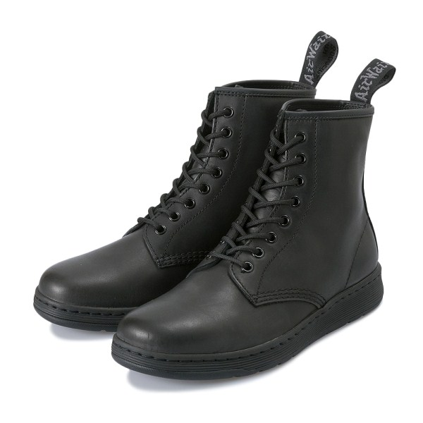 【AIRWAIR】 ドクターマーチン NEWTON 8 EYE BOOT 23093001 BLACK MONO