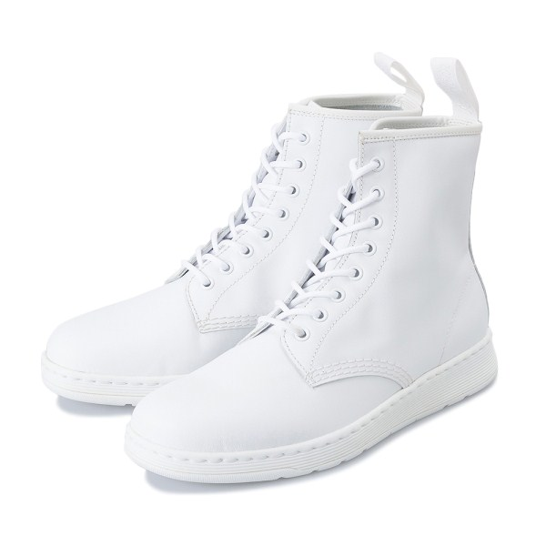 【AIRWAIR】 ドクターマーチン NEWTON 8 EYE BOOT 23169100 WHITE MONO