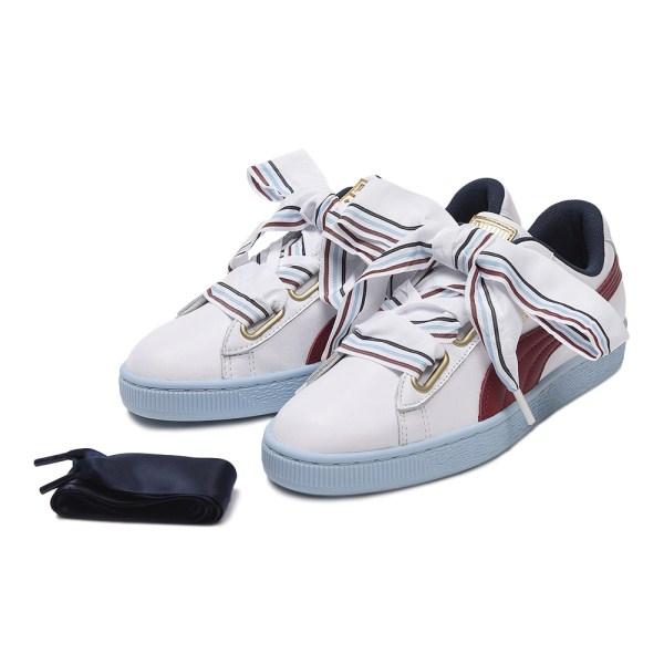 レディース 【PUMA】 プーマ W BASKET HEART NEW SCHOOL バスケットハート ニュースクール 367734 01WH/WH
