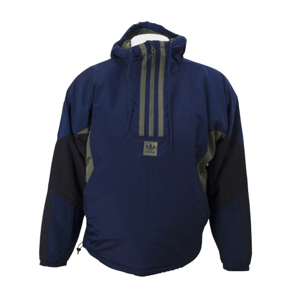 【ADIDAS ウェア】 アディダススケートボーディング M ANORAK PUFFY JACKET DH6647 NVY/BLK/GRN