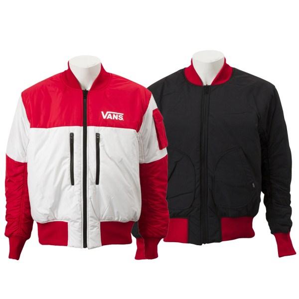【VANSウェア】VANS Switching Blouson ヴァンズ リバーシブルジャケット VA18FW-MJ05 18HO RED